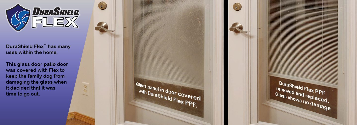 DS Flex protecting glass surface from pet scratches